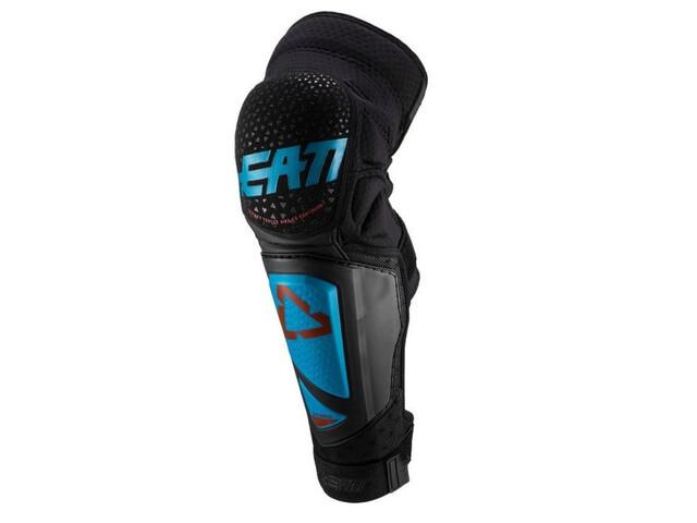 Leatt 3DF Hybrid EXT Protector Espinilla & Rodilla, negro/azul